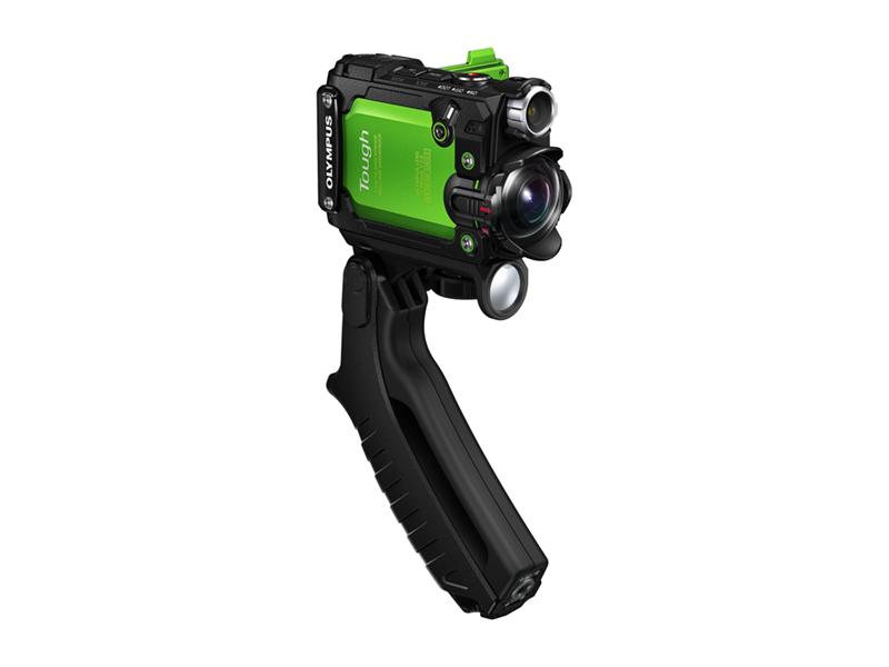 (Foto: Produsenten) Et praktisk pistolgrep følger med for håndholdte opptak.