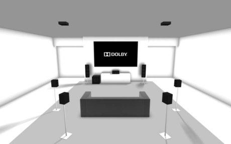 Med Dolby Atmos får man også lyd fra taket.