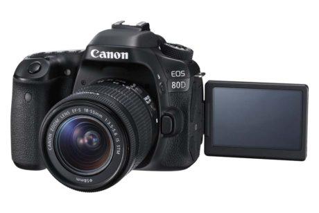 Tilsynelatende som et hvilket som helst Canon speilrefleks, men med pekeskjerm og bedre bildekvalitet. (Foto: Produsenten)