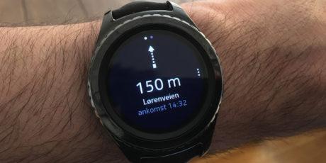 Navigasjon på klokken er fremdeles avhengig av å pare med mobilen. Foto: Geir Gråbein Nordby