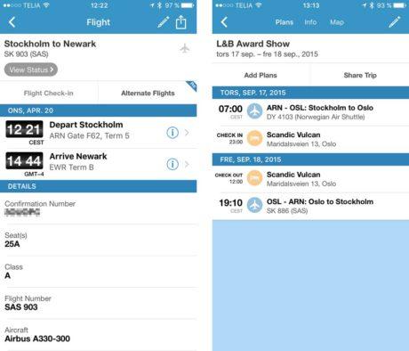 tripit flight details