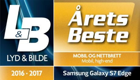 Samsung Galaxy S7 Edge er kåret til årets beste high-end mobil 2016-2017.
