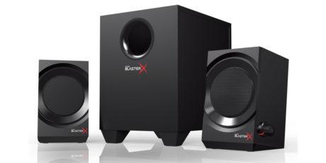 Creative Sound BlasterX Kratos S3 er mindre og har mindre effekt, og koster litt over halv pris av storebror S5. Foto: Creative