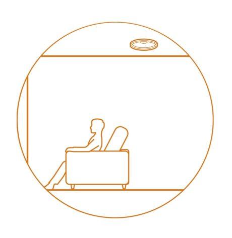 Med et par høyttalere montert i taket kan du nyte et ekte tredimensjonalt lydbilde med lydformater som Dolby Atmos og DTS:X. Illustrasjon: Pioneer / Onkyo