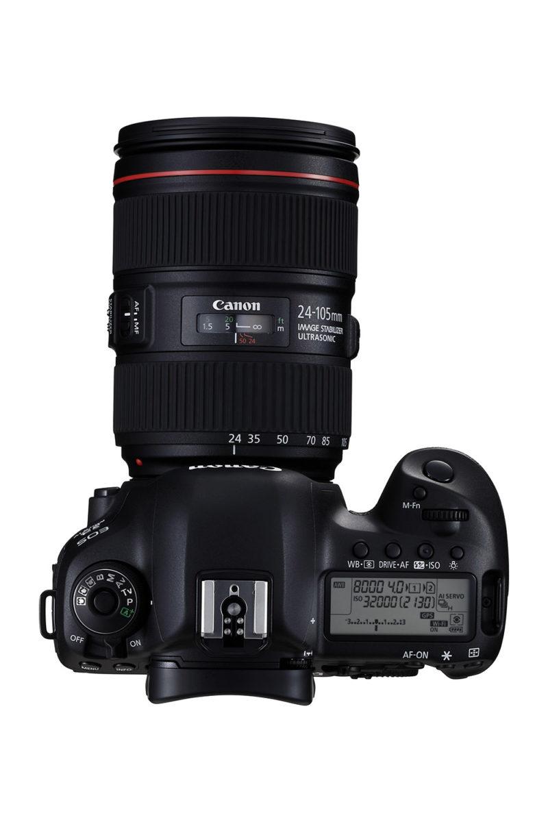 (Foto: Produsenten) Canon EF 24-105-en som er det eneste kitobjektivet til kameraet, blir en 40 - 170mm på 4K-video