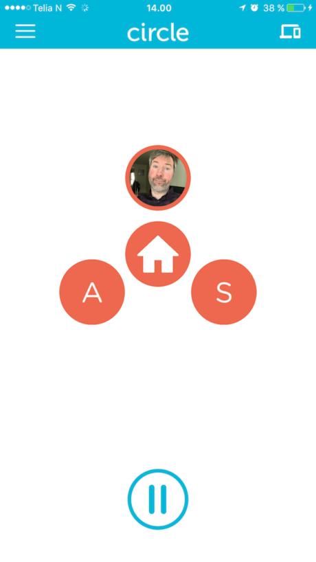 Appen gir oversikt over alle profilene du har laget. I midten er hjemmeprofilen, mens tilleggsprofiler havner rundt. Foto: Skjermdump