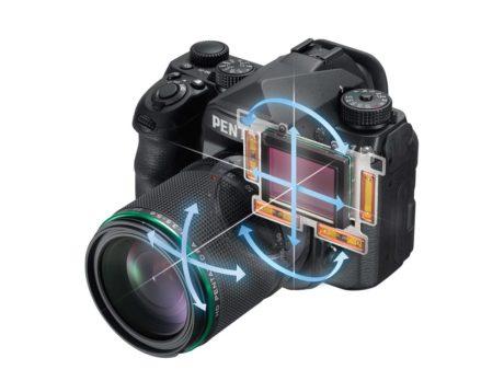 Femaksers bildestabilisering og pixel shift er temmelig unikt for et fullformatkamera. (Foto: Produsenten)