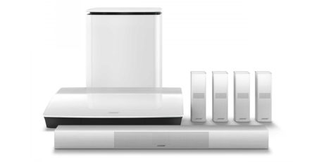 Både Lifestyle 650 (avbildet) og 600 er også tilgjengelig i hvitt. Foto: Bose