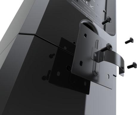 Høyttaleren 1723 Monitor kan enkelt monteres til et matchende stativ og dermed ligne en gulvhøyttaler. Foto: Arendal Sound