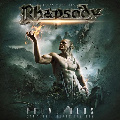 """Omslaget til albumet """"Prometheus, Symphonia Ignis Divinus"""" av Luca Turilli's Rhapsody."""