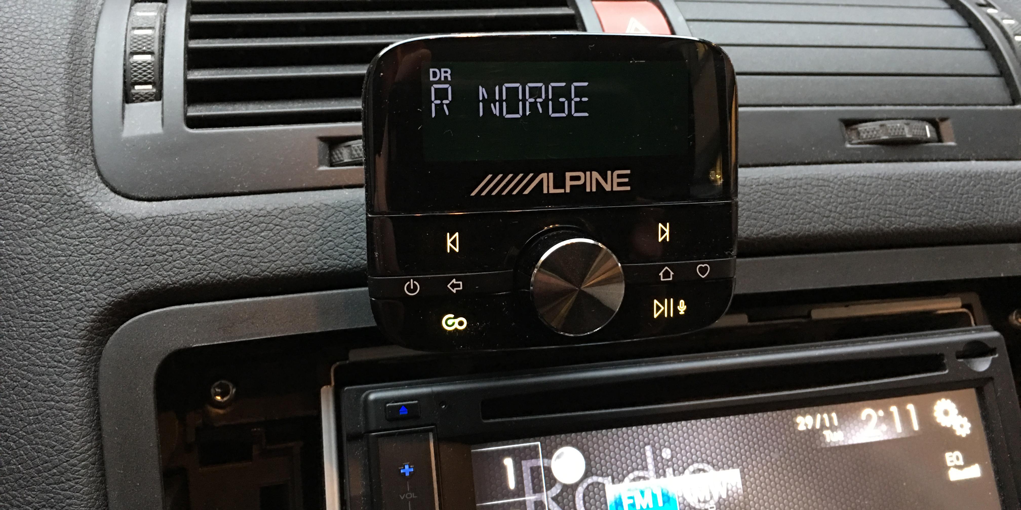 Alpine EZi-DAB-GO er samme adapter som Pure Highway 400. Foto: Geir Gråbein Nordby