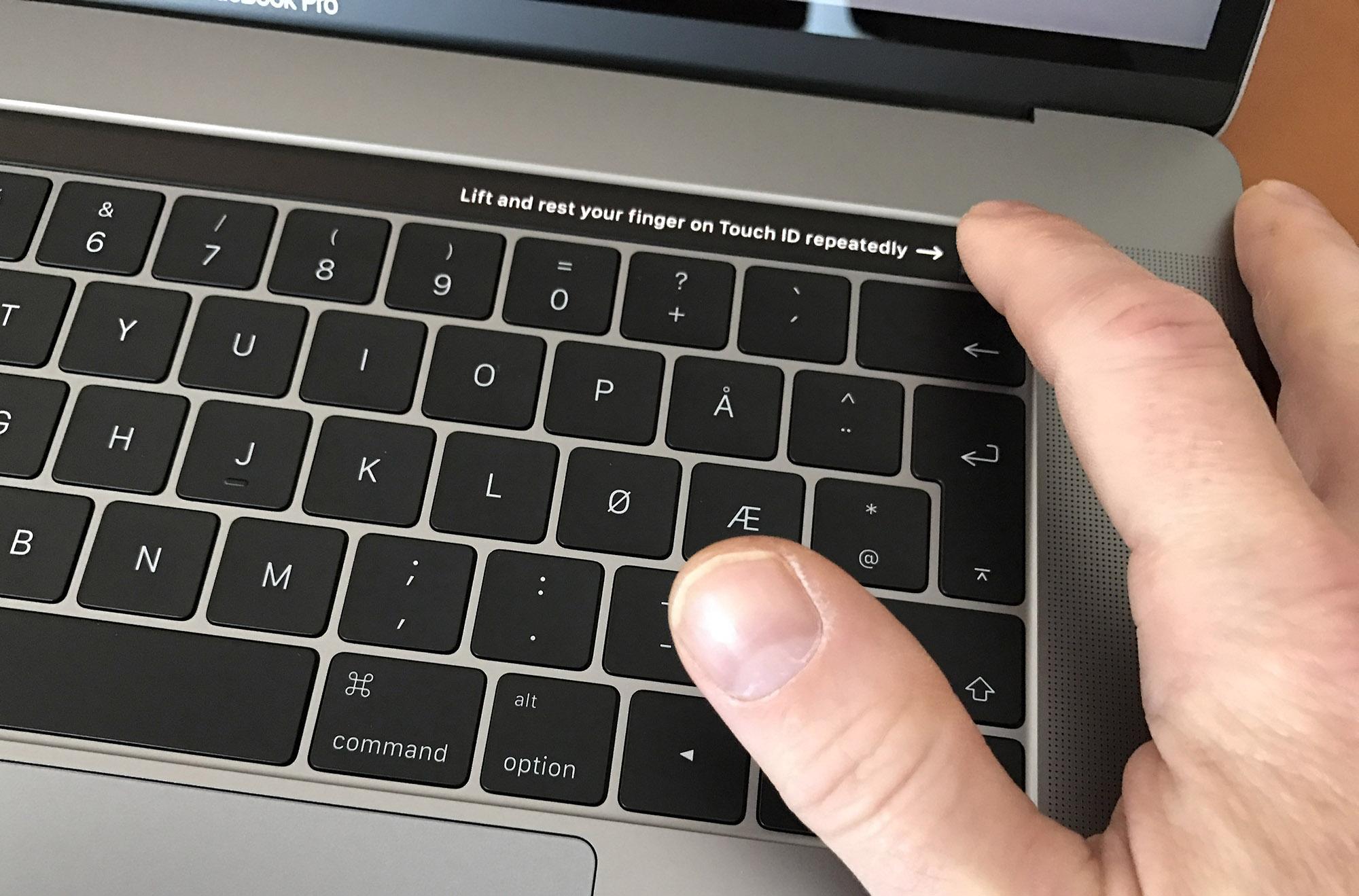 Innlogging og betaling med fingeravtrykk.