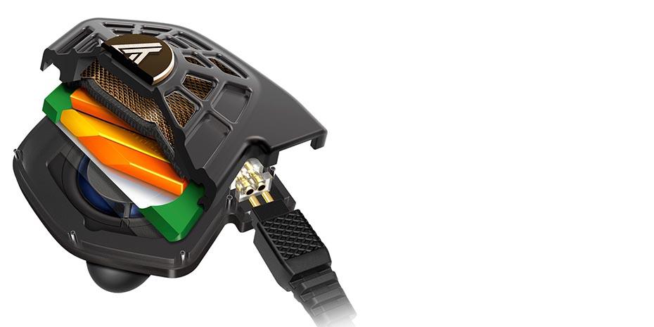 Audeze er først til å bruke magnetostatpanel i ørepropper. Illustrasjon: Audeze