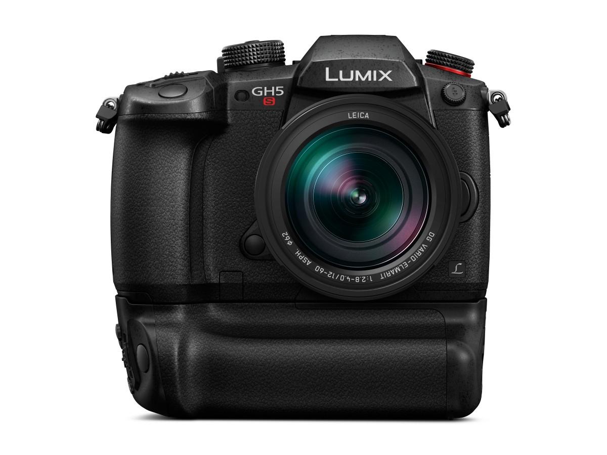 panasonic lumix gh5s h es12060 produktbild front batteriegriff - Lysfølsomt Panasonic-kamera